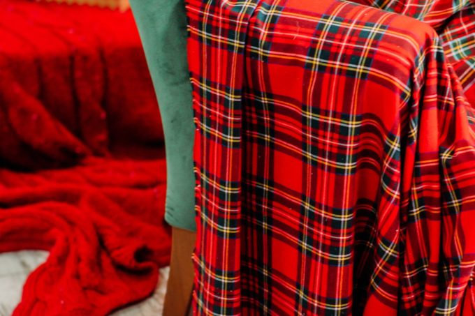 plaid ecossais tartan original rouge plaid confortable